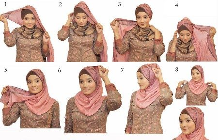 40+ HOW TO WEAR HIJAB IN DIFFERNT STYLES TUTORIALS 2016