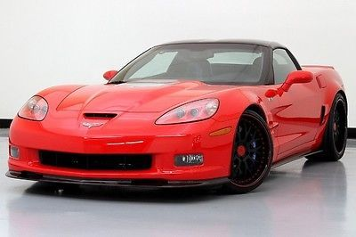 ZR1 Corvette 3ZR Custom 360 Forged Wheels Supercharged Torched Red Used