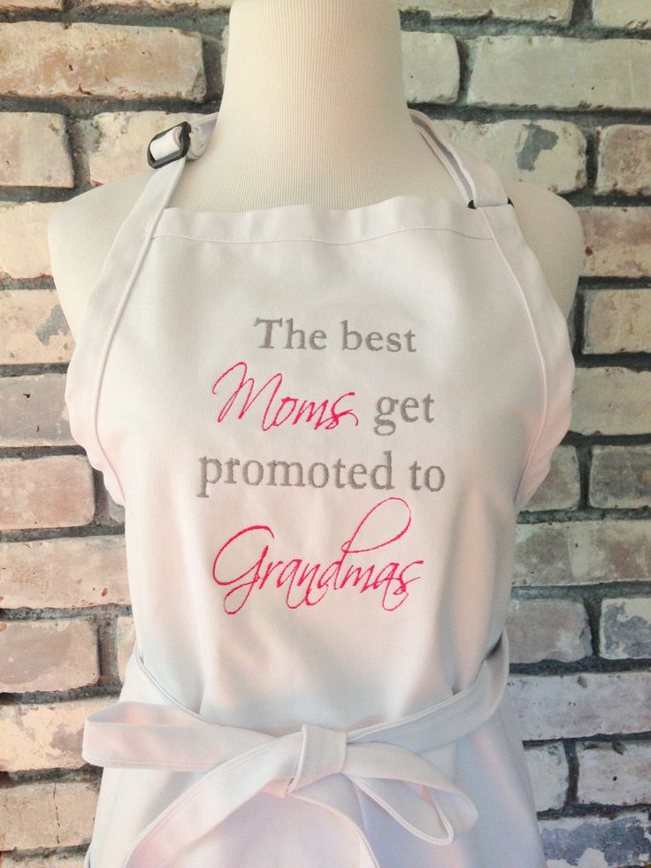 Customized apron for grandmother perfect for gender