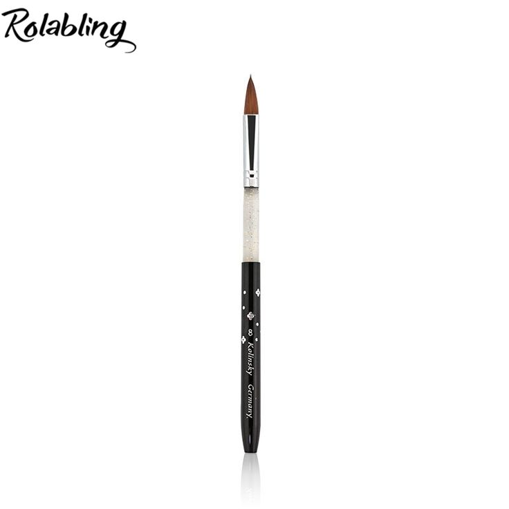 Wholesale 5pcs/set 100% Kolinsky Sable size 8# black kolinsky acrylic nail brush for painting nail art tools