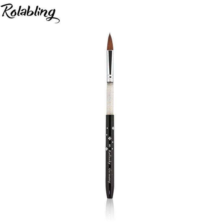 Rolabling 8# black Kolinsky Sable Brush Professional nail brush for kolinsky acrylic nail brush kolinsky nail brush design