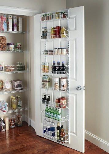 Pantry Door Rack Organizer Kitchen Storage Hanging 8 Shelf Food Spice Holder  NEW