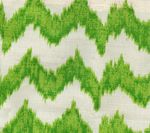 fabric - like the combo of ikat and chevron in green, orange or red fabric