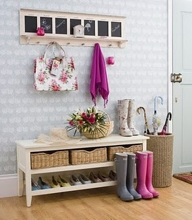 so pretty, want to make a shoe, coat area too: Entry Way, Idea, Laura Ashley, Mudrooms, Mud Rooms, Front Doors, House, Shoes Storage, Entryway
