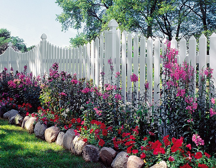 Types Of Front Garden Fencing: 26 Best Flower Beds In Front Of Fence Images On Pinterest
