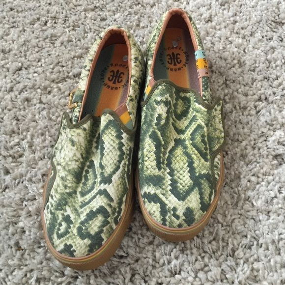 Lamb shoes by Gwen stefani Cute slip on shoes. Snake print. Worn 1x. Great condition! L.A.M.B. Shoes Sneakers