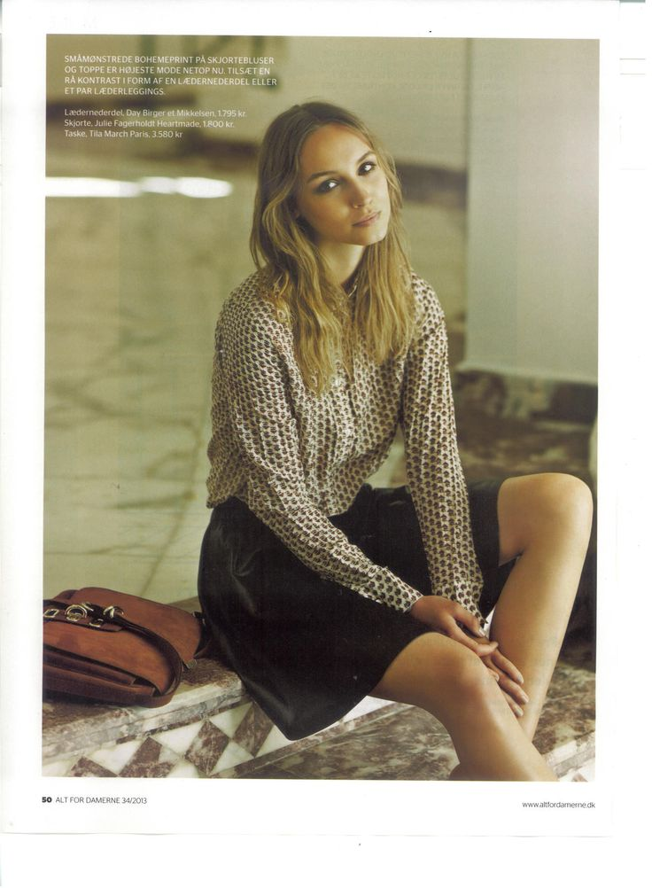 Julie Fagerholt / Heartmade Blouse in Dansih magazine Alt For Damerne