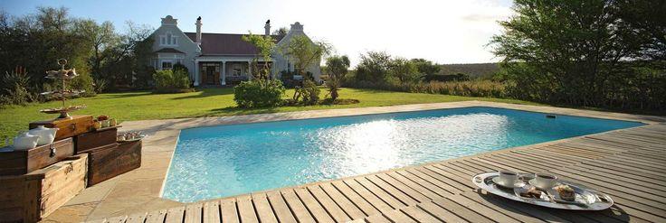 Kwandwe Uplands Homestead pool view http://www.iconvillas.travel/properties/view/691/