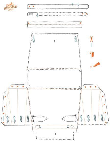Come stampare, tagliare e piegare la tua borsa Hermès fai da te