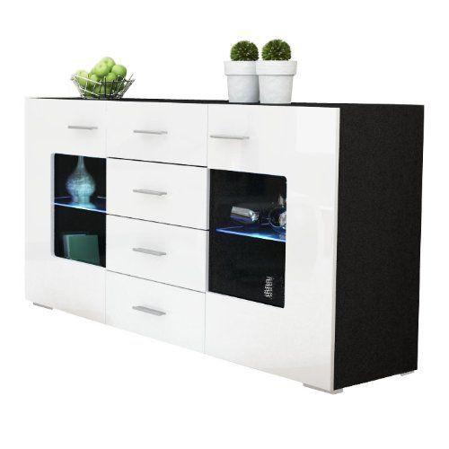 53 best wei e hochglanz sideboards images on pinterest cabinets closet storage and woody - Buffet noir mat ...