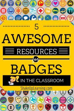 El uso de Badges puede ser muy interesante para incentivar a los alumnos en el día a día. www.shakeuplearning.com | #gamification #edtech #badges