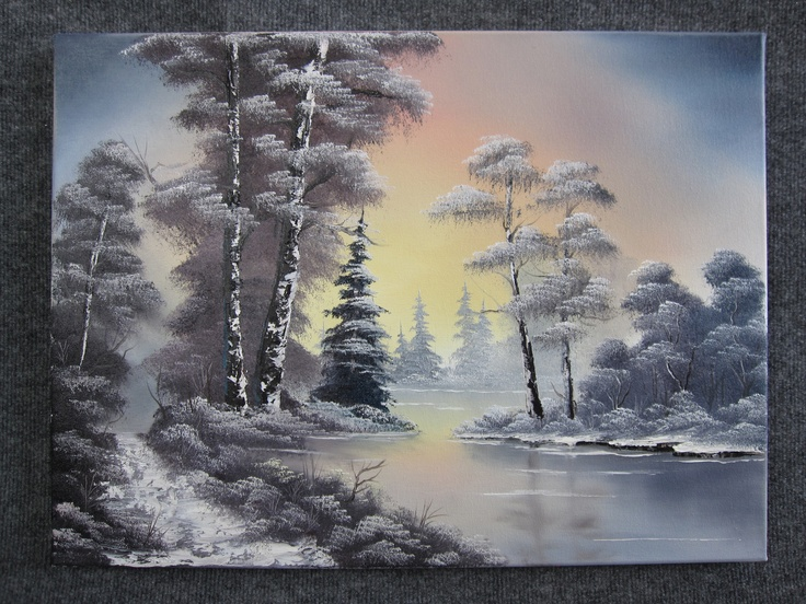 Quot Snowy Sunset Lake Quot By Kevin Hill Kevin Hill Art Kevin