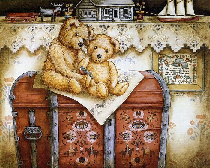 Teddys & Toys by Nita Showers - Teddy Bear Wallpapers   - Treasure Teddys & Toys  -  Vintage Teddy Bear ,  Gorgeous Teddies From Nita Shower...