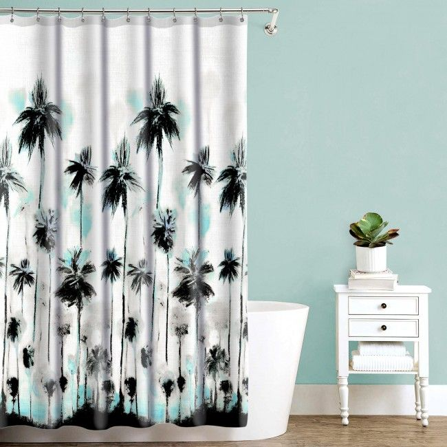 Refresh your shower decor the quick and easy way with a Splash Polyester Shower Curtain.