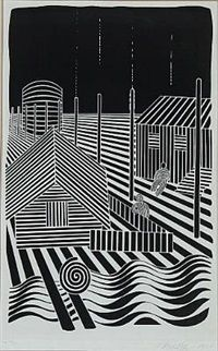 Composition with figures by Victor Vasarely