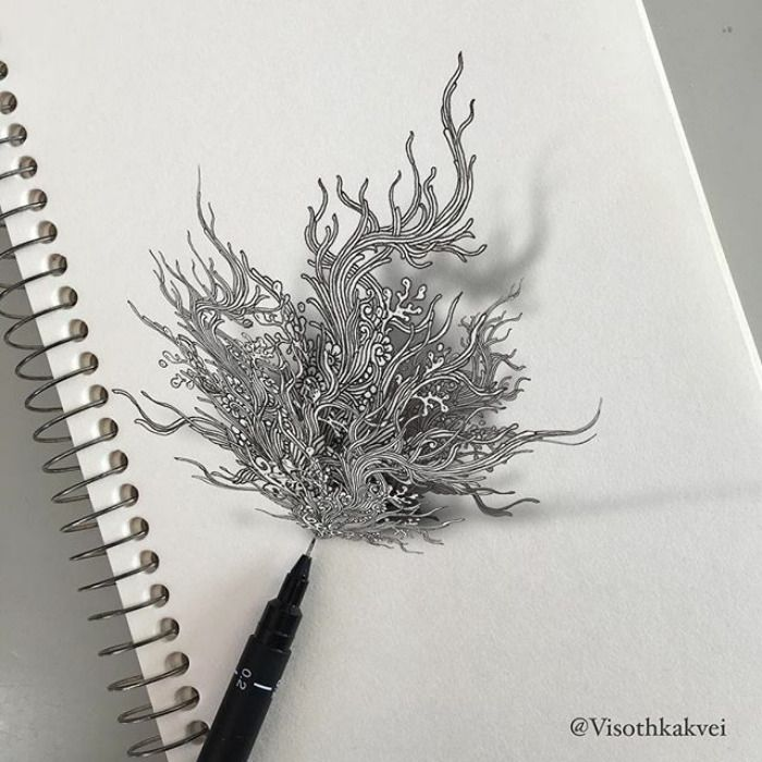 Esse Artista cambojano leva a arte de fazer desenhos a outro nível