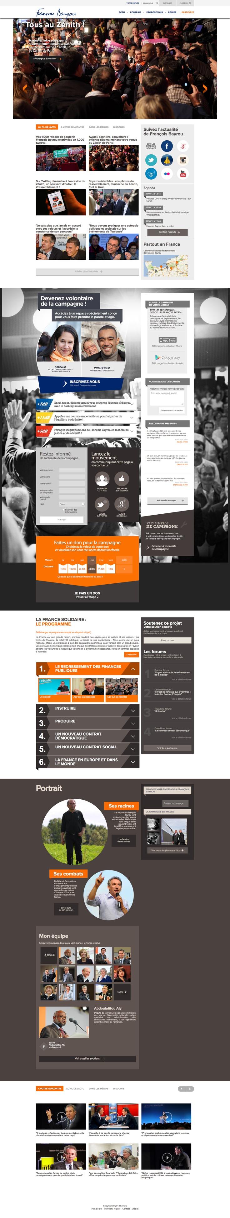 Francois Bayrou's campaign website