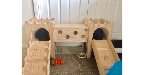FINALLY WOODEN RABBIT CASTLES ARE AVAILABLE IN AUSTRALIA!!! Rabbit Toys Australia is so excited about our new Binky Castles & we are sure your bunny will love it too! Spoil your pet rabbit with one of these fun castle rabbit toys that include buildings, ramps, slides, litter trays and tunnels. D