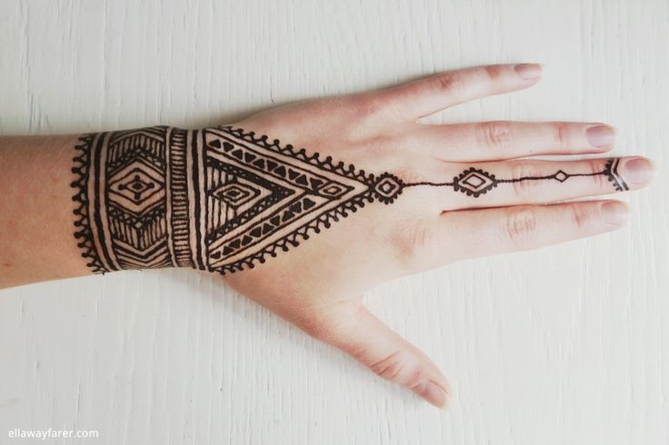 DIY NATIVE TRIBAL HENNA TATTOO