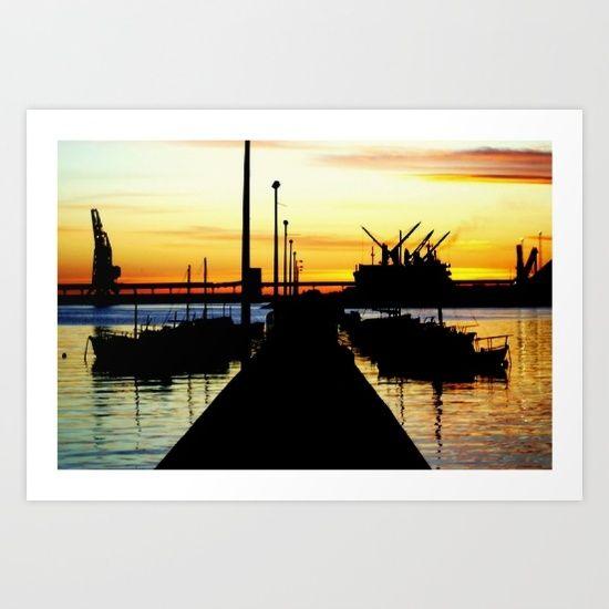 Harbour, Sunrise, Silhouettes, Ships, Moorings, Sky, Reflections, Seascape, Australia. Read More