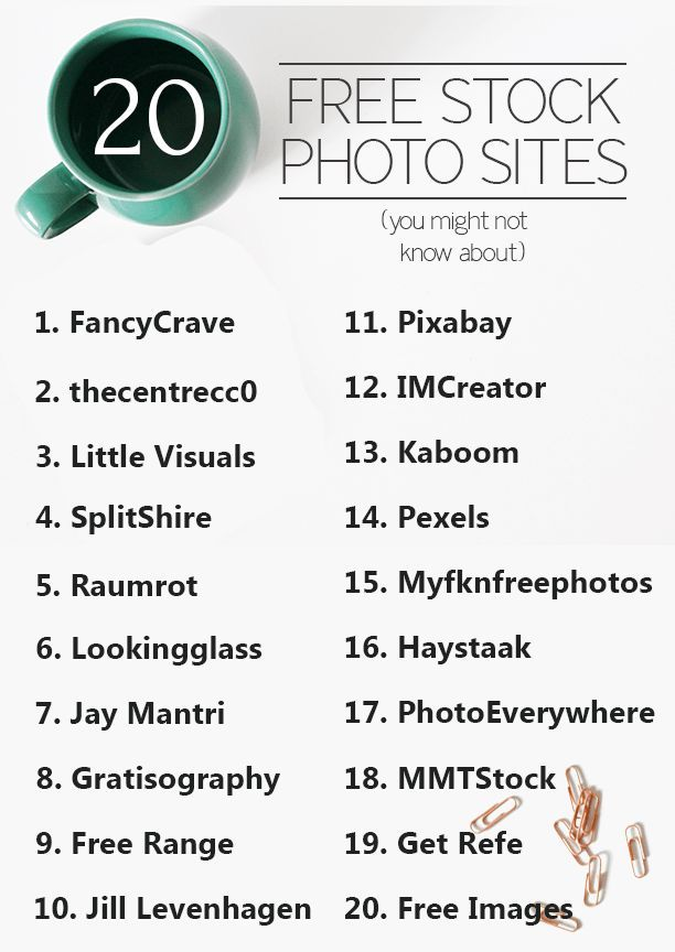 20 sites de ressources photo gratuites