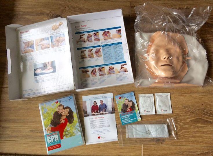 NEW Family & Friends CPR Mini Anne Manikin Anytime Kit DVD English & Spanish  #LaerdalMedicalAmericanHeartAssoc
