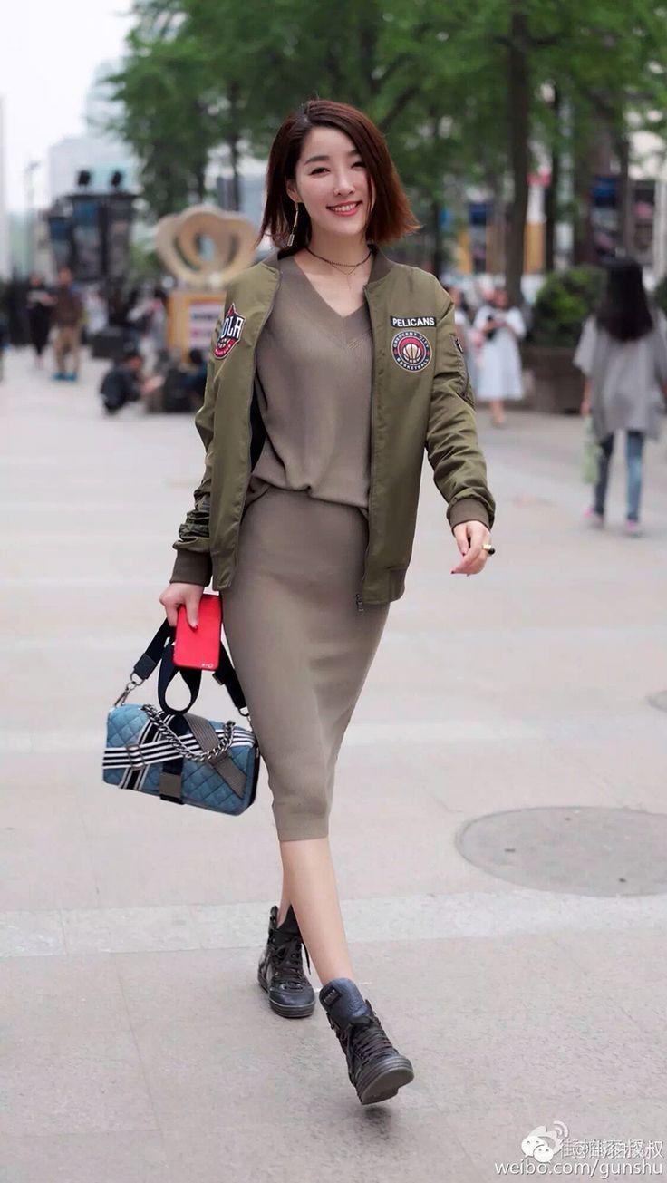Chinese street style 2015 #hangzhou#shanghai fashion 中国街拍 2015-2016#street Shanghai fashion week