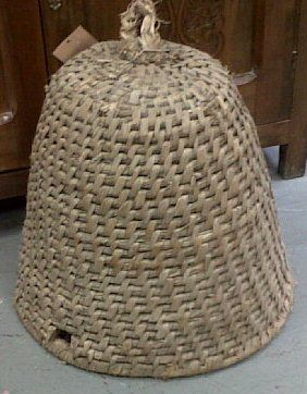 1000 images about bee skeps on pinterest gardens honey bees and straws - Wicker beehive basket ...