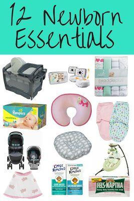 Newborn essentials. Great ideas for your baby registry or baby shower gifts for expecting moms!