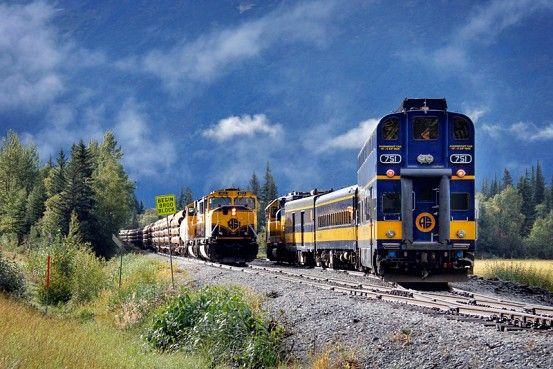 On the Alaska Railroad, passing between Anchorage and Seward. www.AlaskaRailroad.com