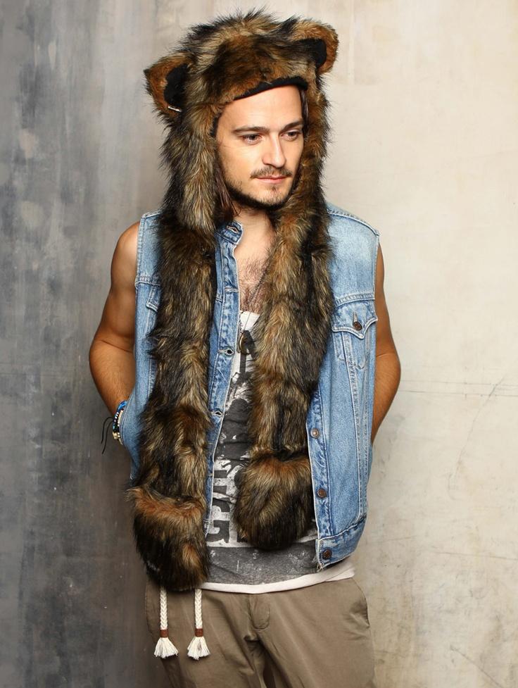 Spirit hood :: ADULTS :: Mens Full Hoods :: Grizzly Bear