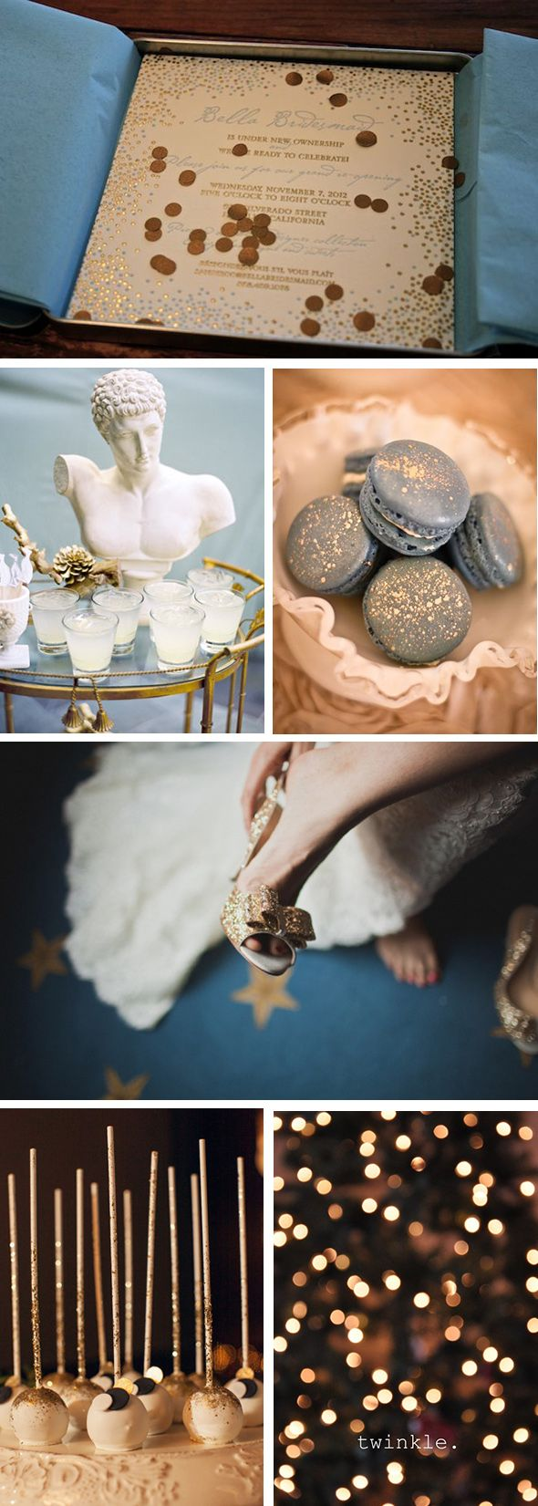 Gold and Blue - 2014 Wedding Trends #wedding #trends #colors