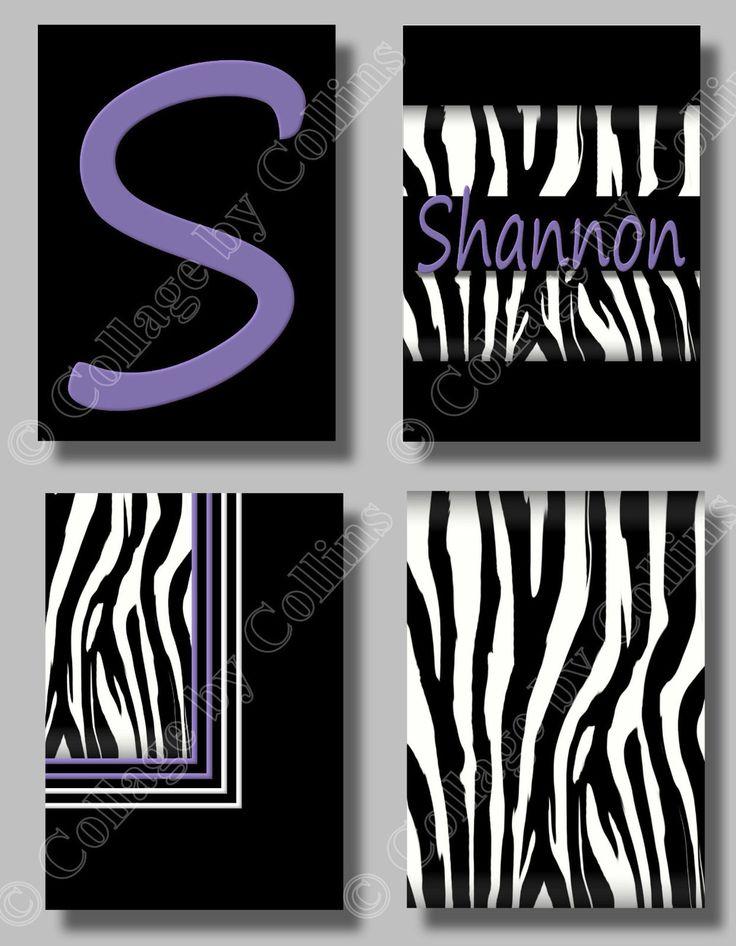 108 best d i y zebra purple n blk n white bedrm images on for Diy room decor zebra