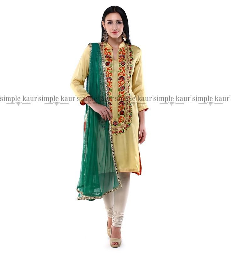 As the season slowly takes a turn, the nip in the air calls for satin twill fabrics. A lovely kurta, ideal for this season.  Shop on at  http://www.simplekaur.com/Singles/Bedazzling-Gold-in-satin-twill-kurta-id-2533078.html or  Simple Kaur SCO 481, Sector 35 C, Chandigarh.