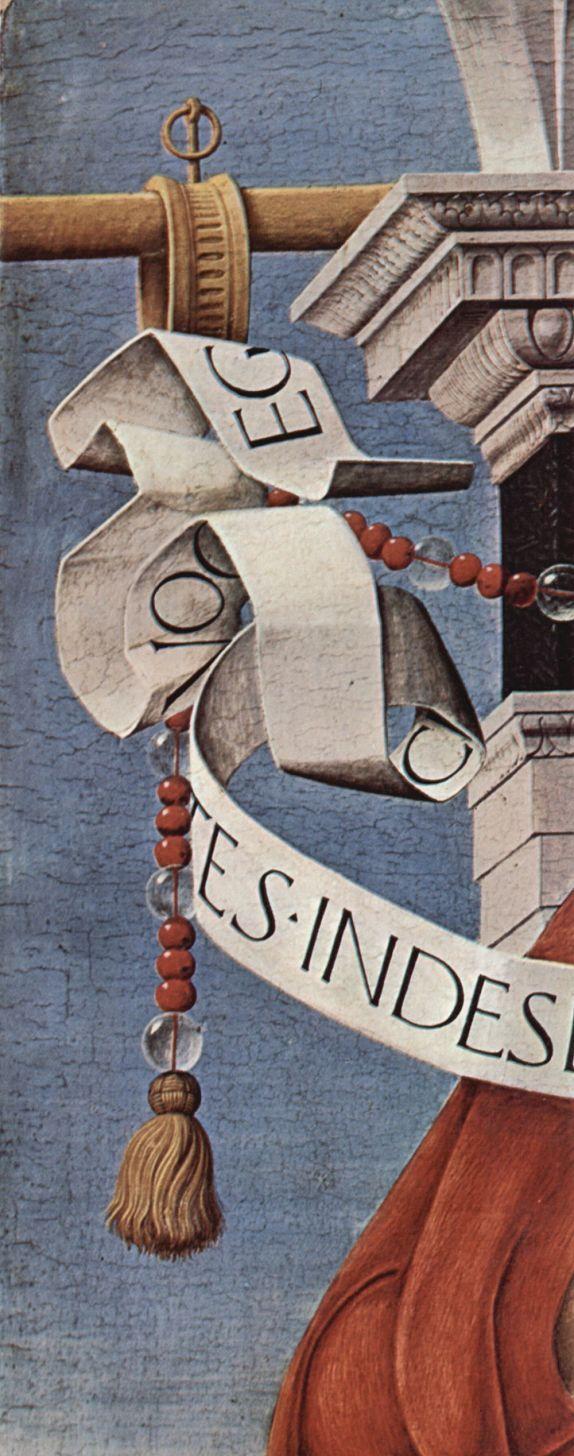 Алтарь Гриффони, Капелла Гриффони в церкви Сан Петронио в Болонье, правая створка: св. Иоанн Креститель, деталь
