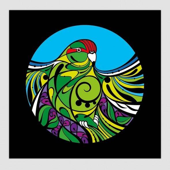 New Art Prints by Shane Hansen now at www.thecleverdesignstore.com - Kakariki