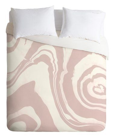 Loving this Susanne Kaiselke Marble Structure Baby Pink Duvet Cover on #zulily! #zulilyfinds