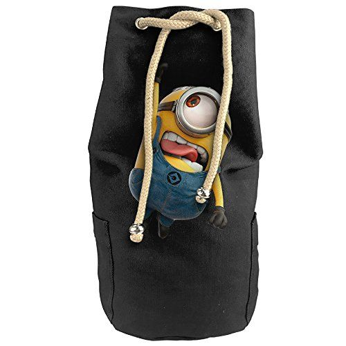 Bandy Minions Canvas Drawstring Backpack Bucket Bag ** Visit the image link more details.