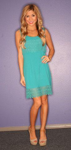 Laguna Beach Girl Turquoise | Impressions  I like this dress.  Lace eyelet at bottom.