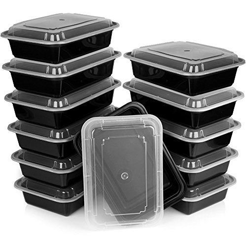Meal Prep Food Containers Lids Reusable Dishwasher Leak Resistant Microwavable #HeimConcept