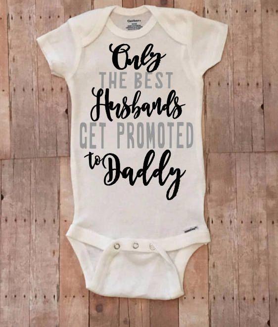 pregnancy announcement ONESIE® bodysuit reveal to husband #pregnancyannouncementtokids, #PregnancyAnnouncements