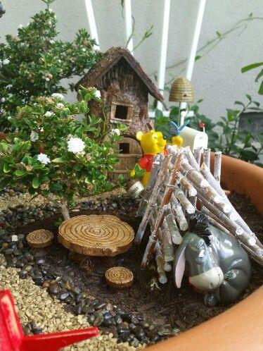 Winnie The Pooh Garden Fairy Gardens Pinterest