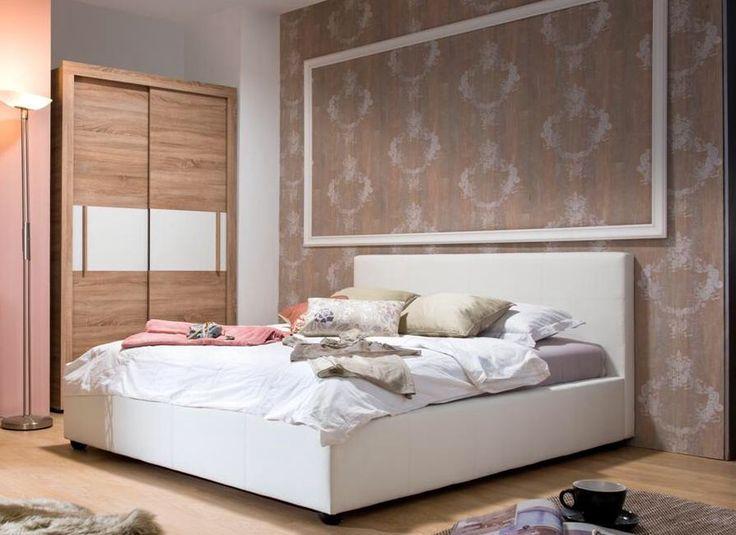 3shops.gr Διπλό κρεβάτι με ενσωματωμένο στρώμα και αποθηκευτικό χώρο σε λευκό χρώμα. Διάσταση : 175.5 x 219 Διατίθεται σε μαύρο και καφέ χρώμα. Ρωτήστε μας για τη διαθεσιμότητα. 402€