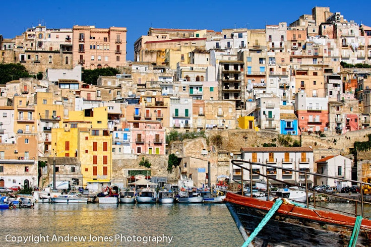 The colourful old town of Sciacca in Sicily, this is where my family is from.