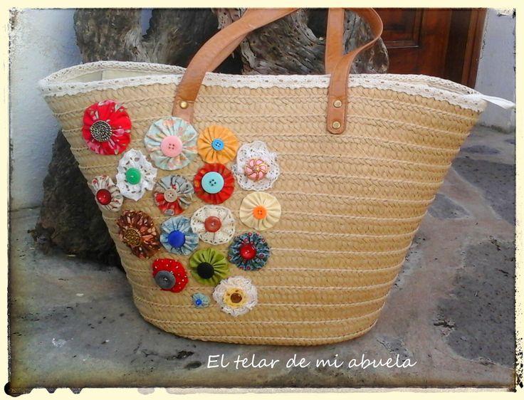 el telar de mi abuela cesta para la playa