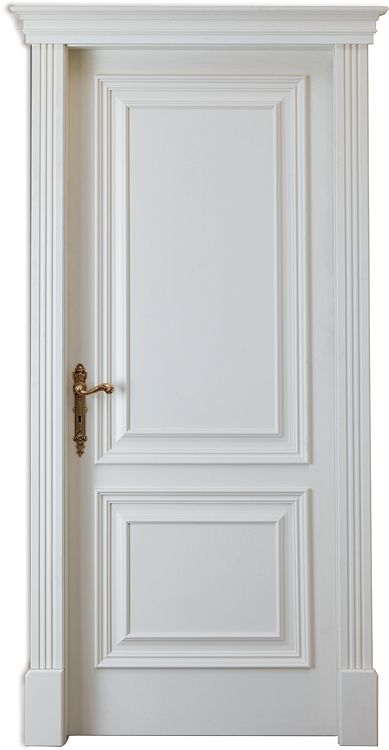 White Bohema interior door- painted white, RAL9003, with an adjustable frame.