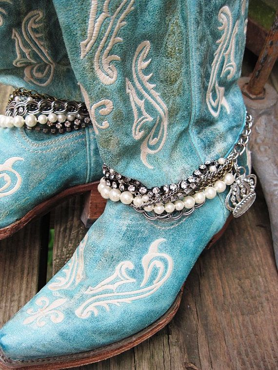 Boot Bling 3 - Bracelet Jewelry for your boot (single boot or pair) on Etsy, $40.00