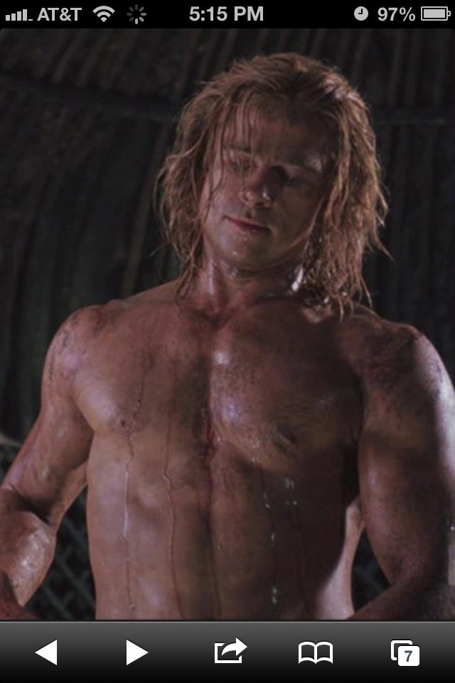 brad pitt muscle naket