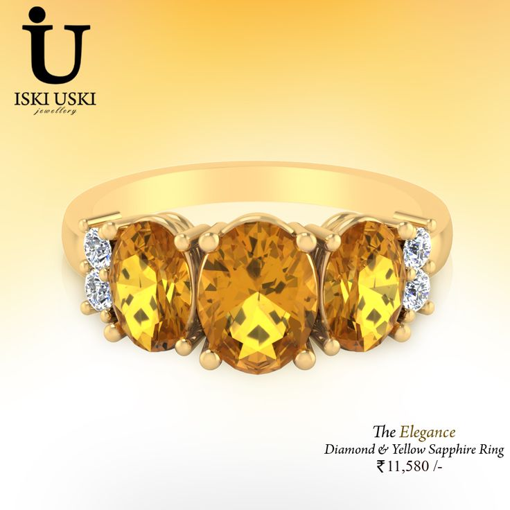 Shop The Elegance ‪#‎Diamond‬ and ‪#‎Yellow‬ ‪#‎Sapphire‬ ‪#‎Ring‬ on IskiUski, the place to express your creativity through the selling of ‪#‎handmade‬ and ‪#‎vintage‬ goods.