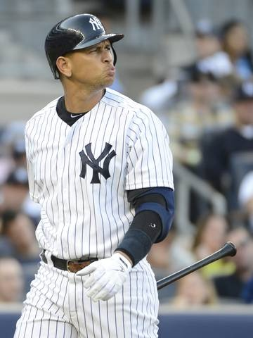 The New York Post reported that [Alex] Rodriguez was openly flirting with 2 blonde female fans sitting near the New York dugout during Game 1 of the ALCS at Yankee Stadium last Saturday night.    Rodriguez had plenty of time on his hands Tuesday -- he was benched for Game 3 of the ALCS... The Post reported that he pulled one of the oldest tricks in the baseball handbook to picking up ladies by sending an autographed ball to them in the stands that included his phone numbers.